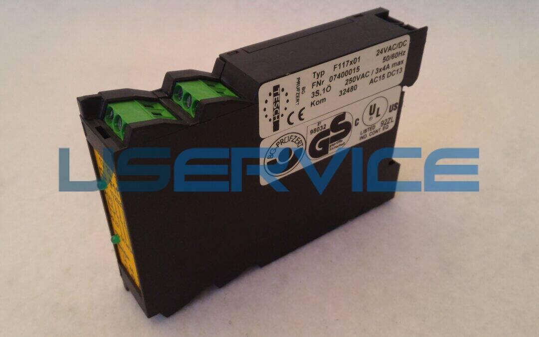 FUHRMEISTER F117x01 24VAC-DC NOT-AUS RELAIS – 07400015